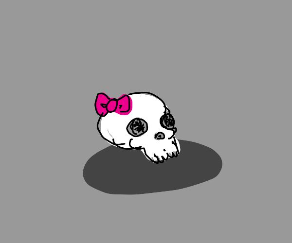 A girl skull