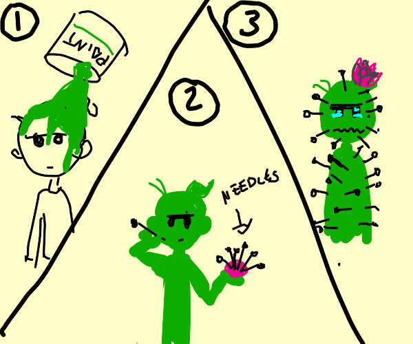 TURN URSELF INTO A CACTUS WITH 3 EASY STEPS!!