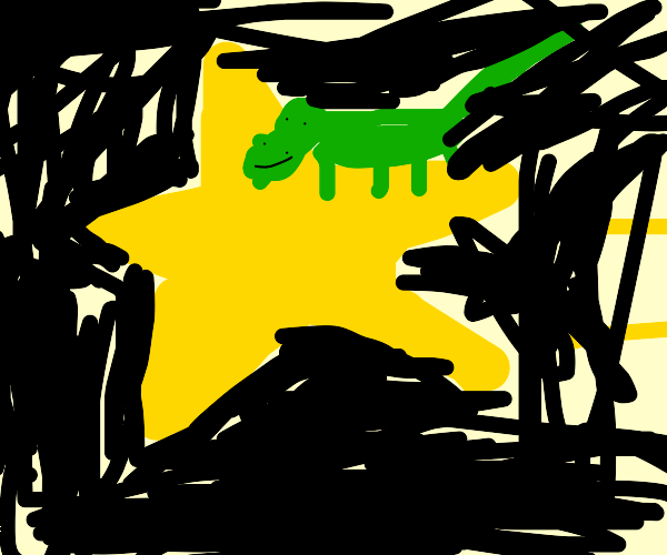 crocodile on a star