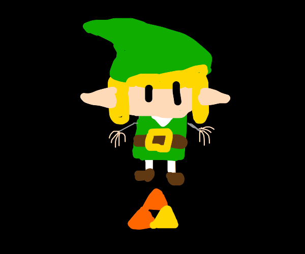 link has tiny arms