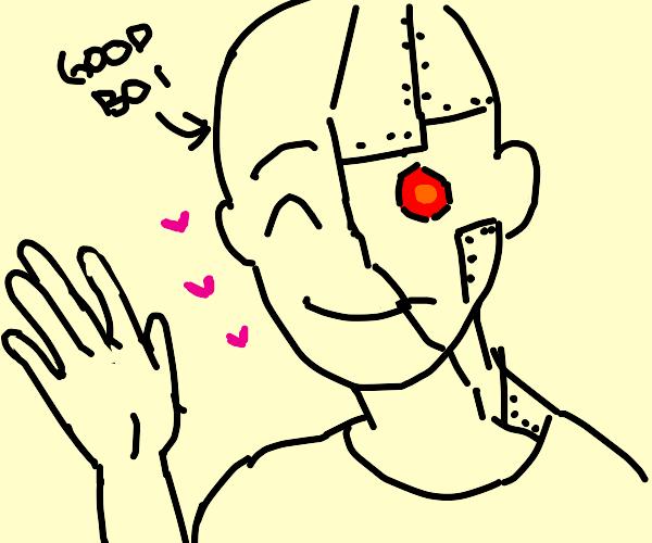 half good boy half robot