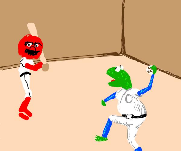 Muppet baseball player