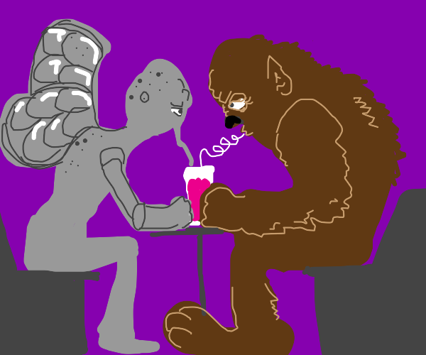 mothman and bigfoot on a date