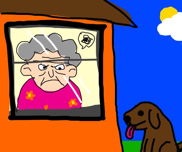 Granny hates dogs
