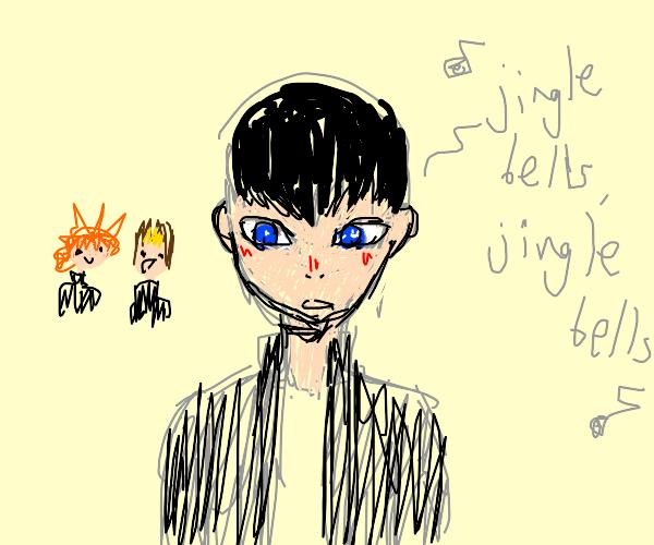 kageyama singing jingle bells