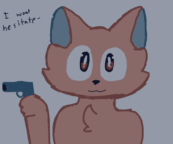 furry.. with a gun