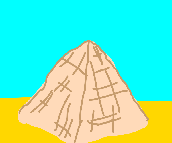Pyramid in the middle of a desert