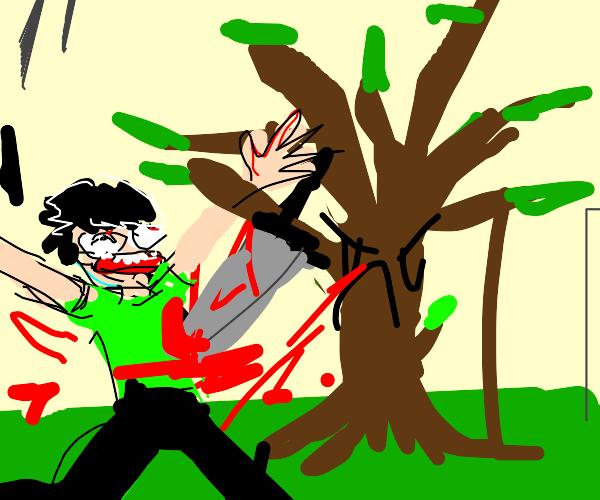 tree commits murder