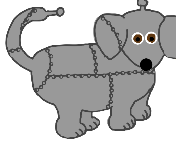 mechanically engineered dog