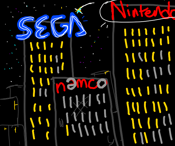 90's game companies at night