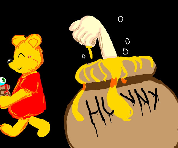 Pooh drowns Christopher Robin in honey pot