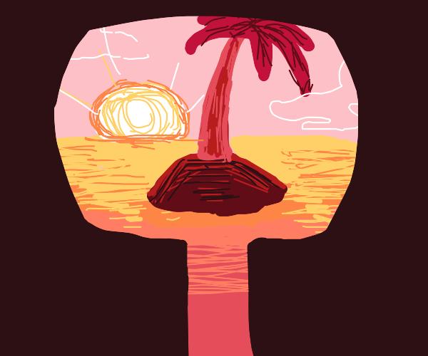 Looking at an island through through keyhole