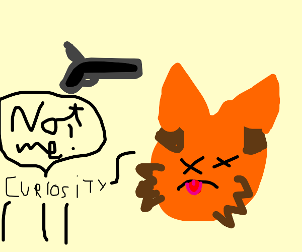 the pistol killed the cat, not curiosity