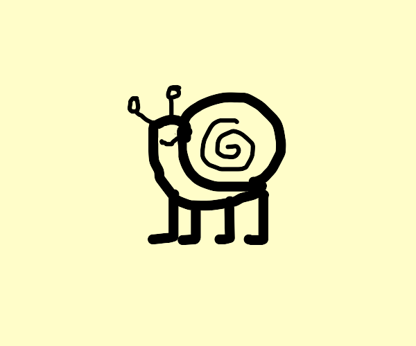 Snail but with 4 legs