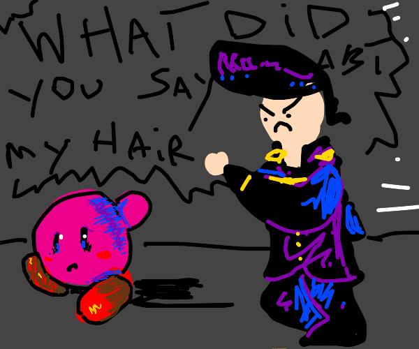 Kira runs away from an angry Josuke