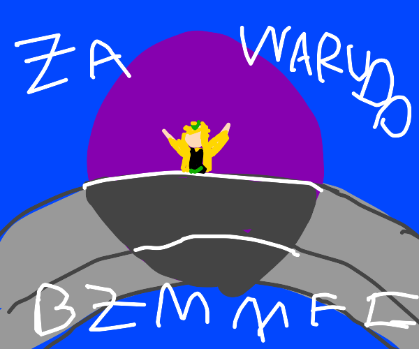 Dio says za wardo on a bridge
