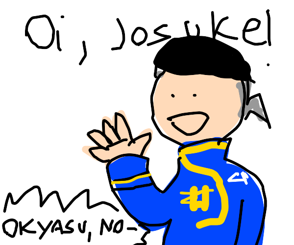Okuyasu calls josuke