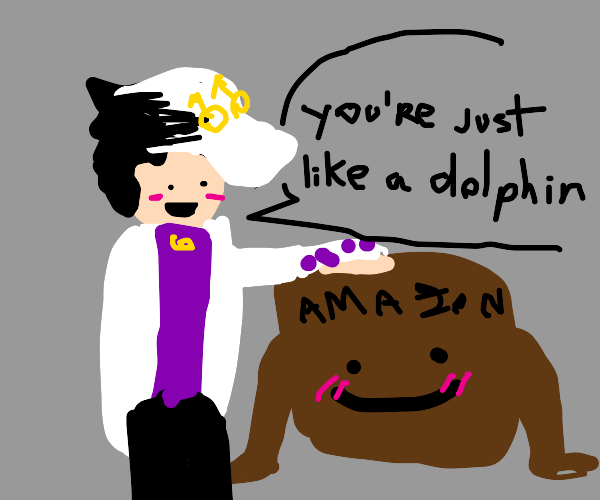 Jotaro is in awe of the amazon box man