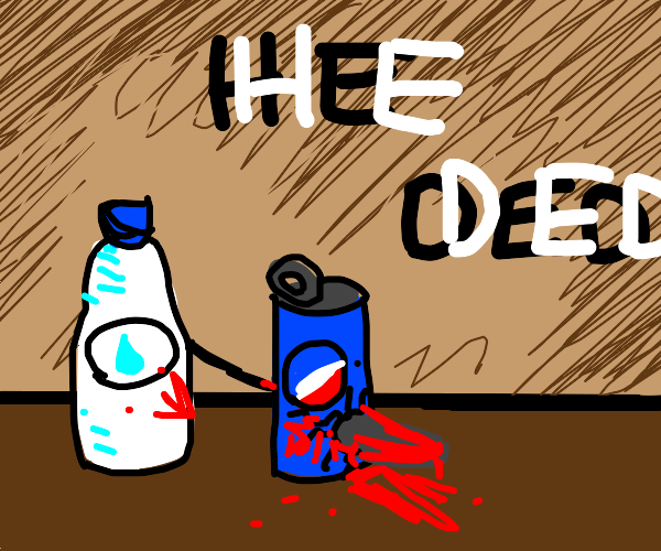 Water bottle killing Pepsi can (brutal)