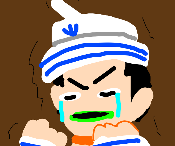 sailor having a mental breakdown