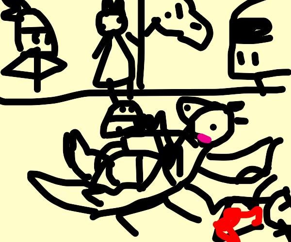 brave knight slays princess and saves dragon
