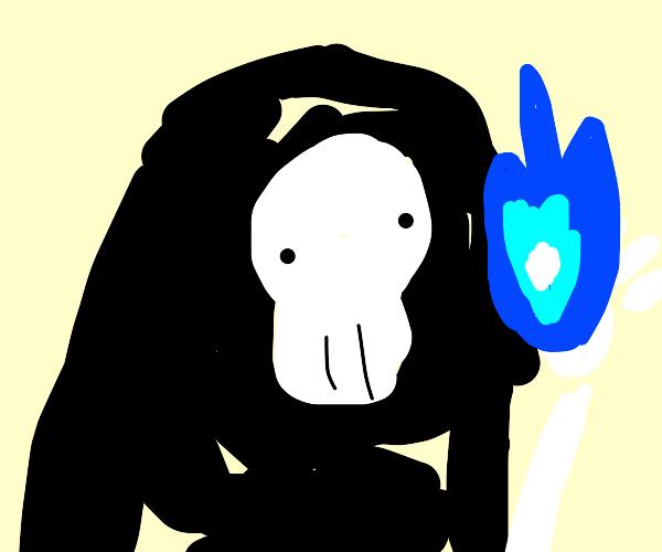 grim reaper a blue fire