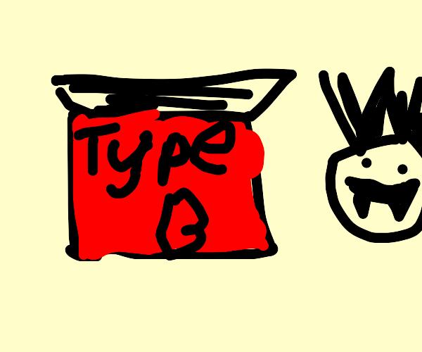 Grey Dracula eat type B blood