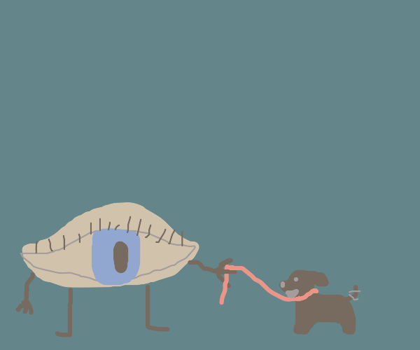 An eye and his dog