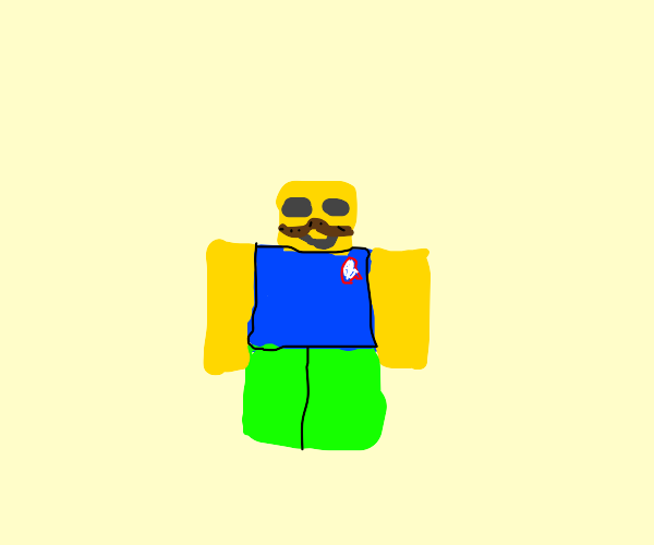 ROBLOX Noob with a mustache.