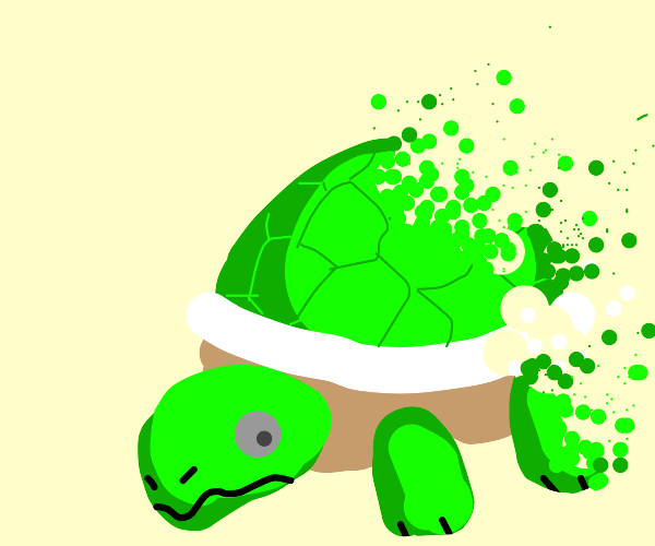 A turtle's death after Thanos' snap