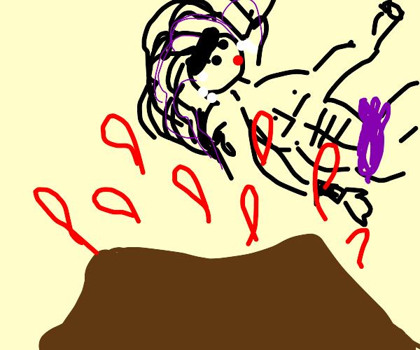 kars getting LAUNCHED by volcano