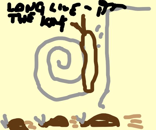 Snail dies like mufasa