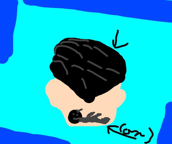 hair cut (tatoo?)
