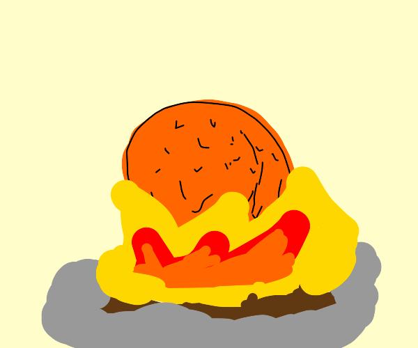 Orange in a Fire