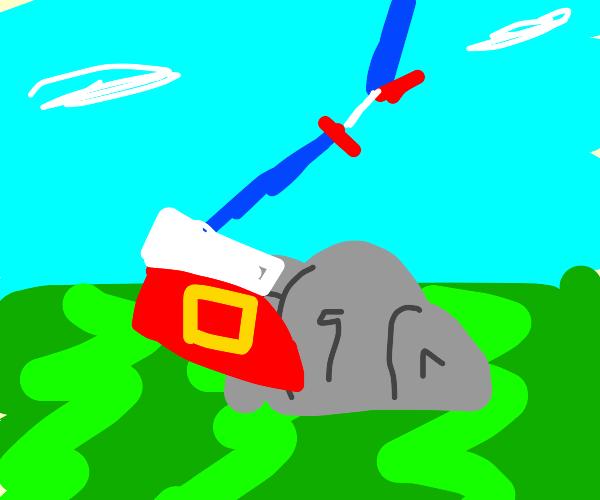 Sonic kicking a rock