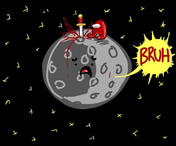 Astronaut on the moon