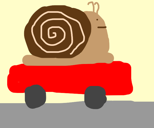 Snail really do be ridin. Where he goin doe?