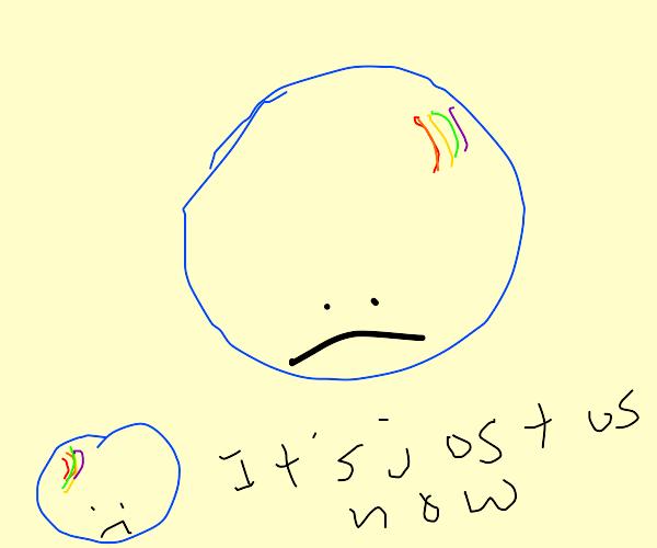 Sad soap bubbles