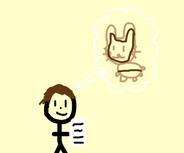 Cut-out plan for building a cardboard bunny