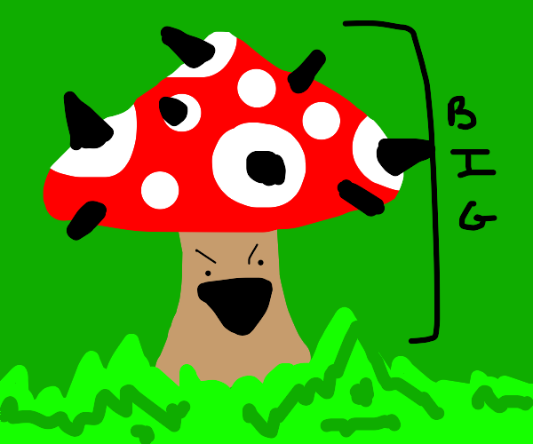 Spiky mushroom thinks size is great