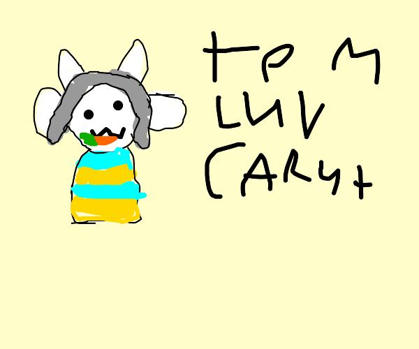 furry named temmie eats carrot
