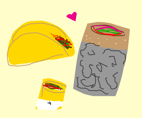 Taco is burrito's baby-daddy