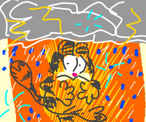 Garfield in thunder