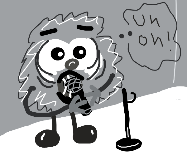 Monster get a Microphone stuck in his mouth