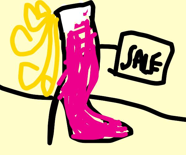 the high heel shoe i on sale
