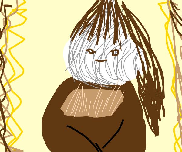 mona lisa with onion head