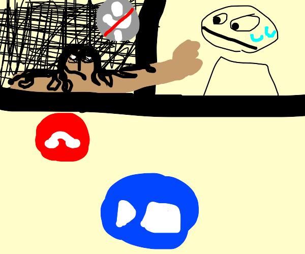 a really creepy zoom call