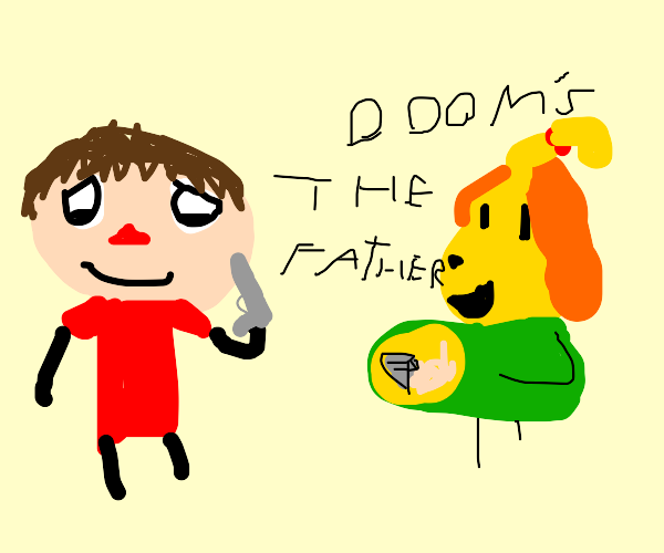 Isabelle is pregnant with Doom Guy's baby