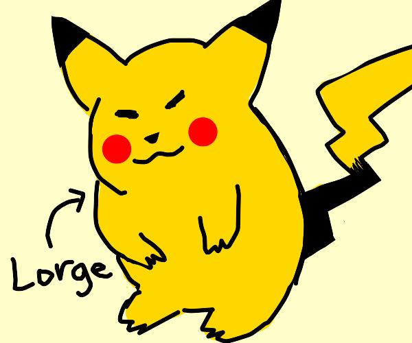 Pikachu is c h o n k