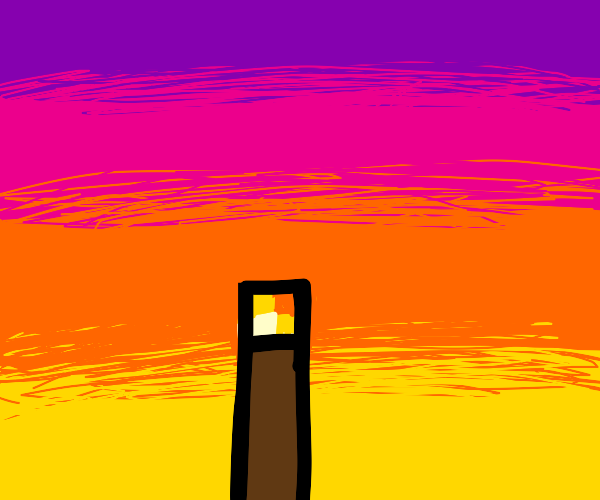 torch in the sunset